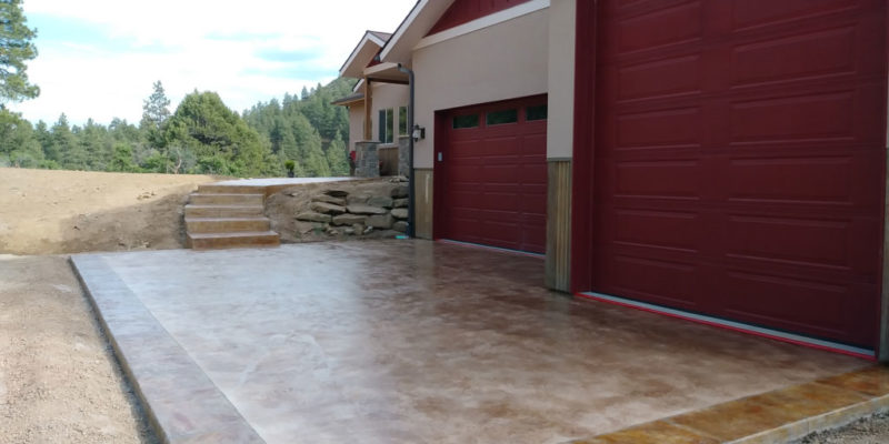 Driveway After Rocky Mountain Resurfacing, Durango Colorado