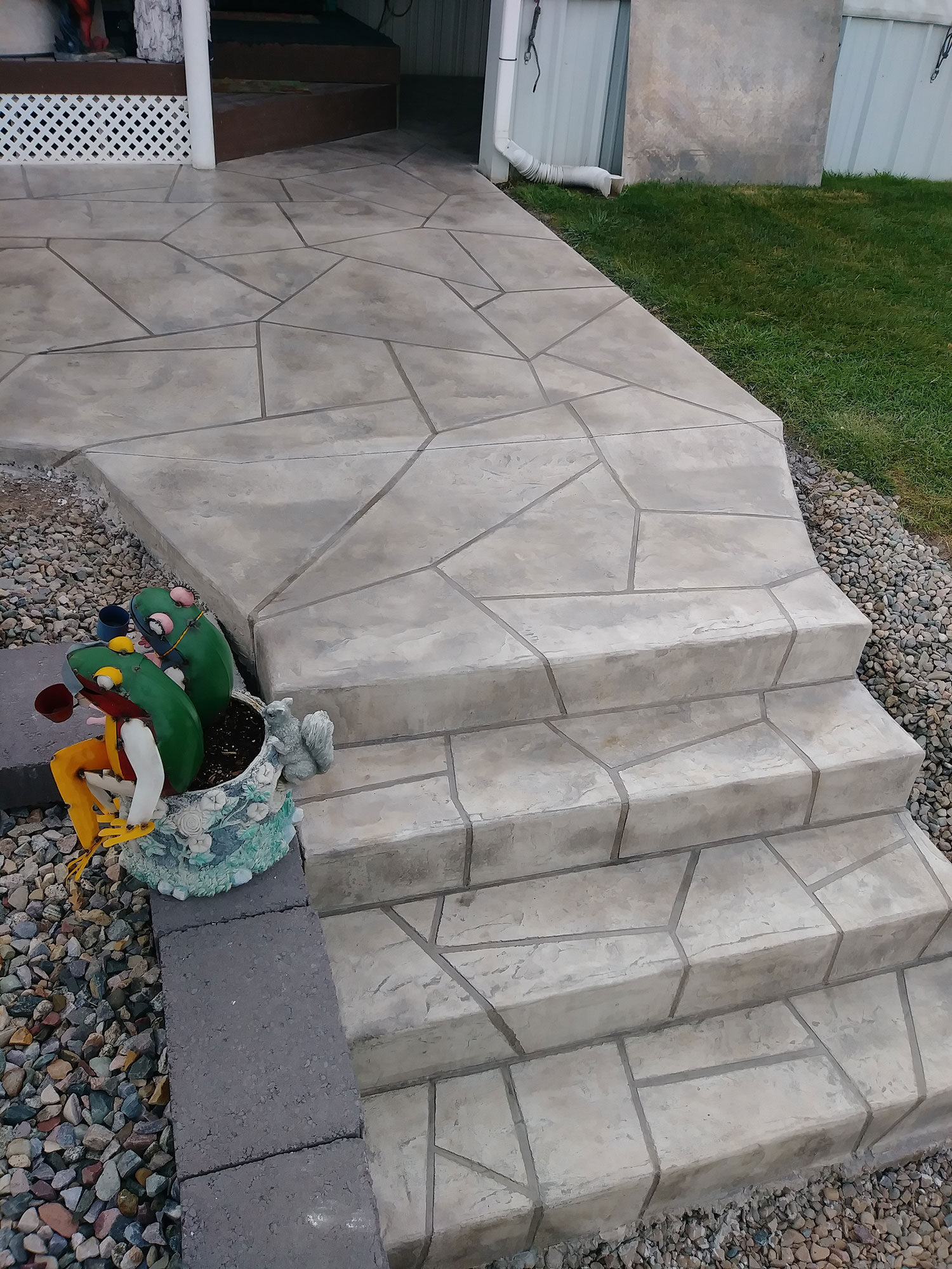Exterior Steps Overlay Rocky Mountain Resurfacing, Durango Colorado