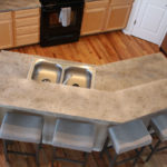 Birds Eye View of Countertops Rocky Mountain Resurfacing, Durango Colorado
