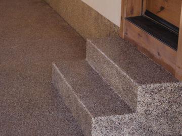 Steps into house Rocky Mountain Resurfacing, Durango Colorado