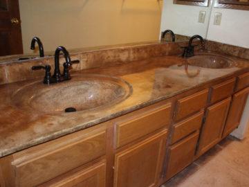 Bathroom Countertops After Rocky Mountain Resurfacing, Durango Colorado