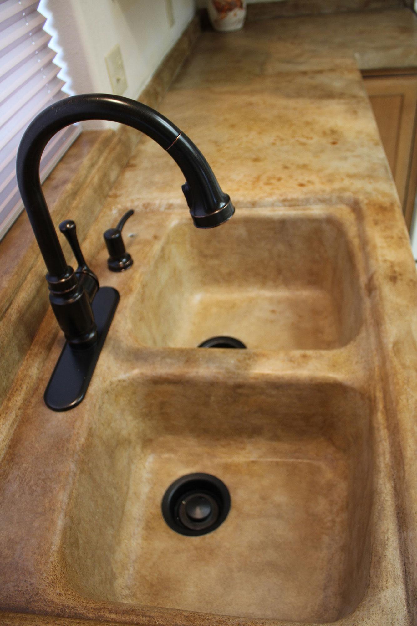 Farmhouse Kitchen Sink Overlay Rocky Mountain Resurfacing, Durango Colorado