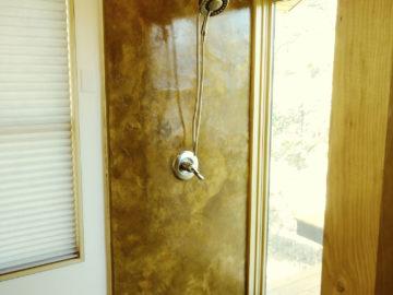 Shower System Overlay Rocky Mountain Resurfacing, Durango Colorado